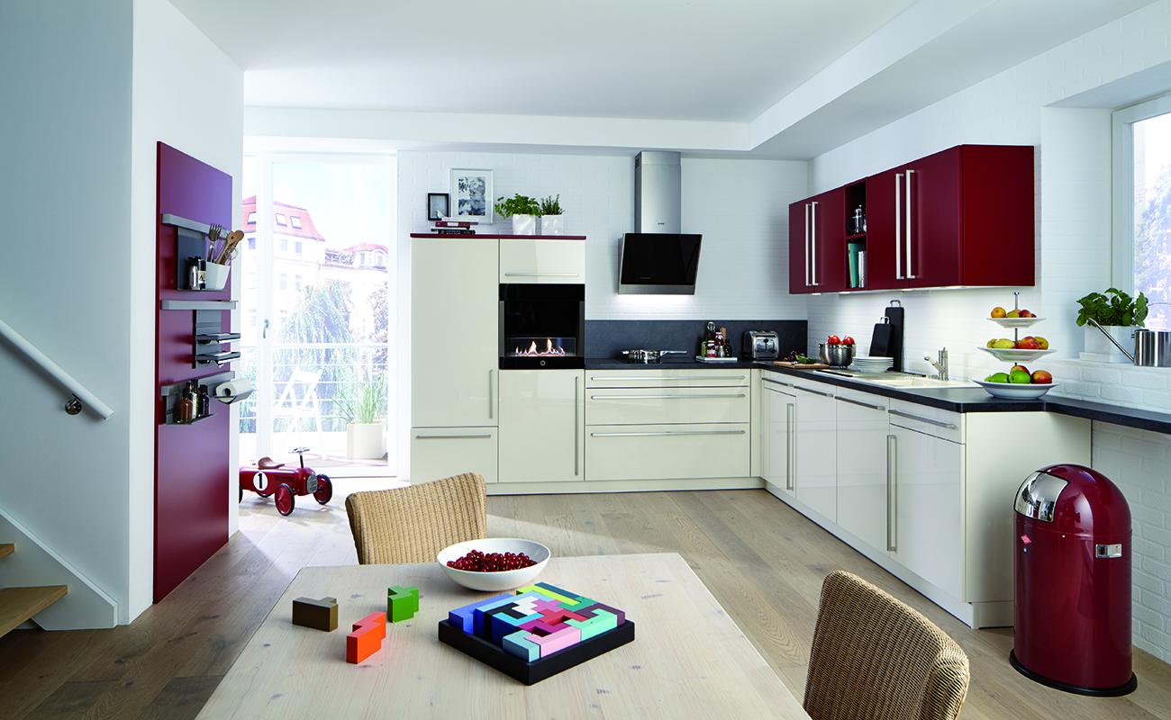 Tendance d co du rouge dans la cuisine atre loisirs - Cuisine beige et rouge ...