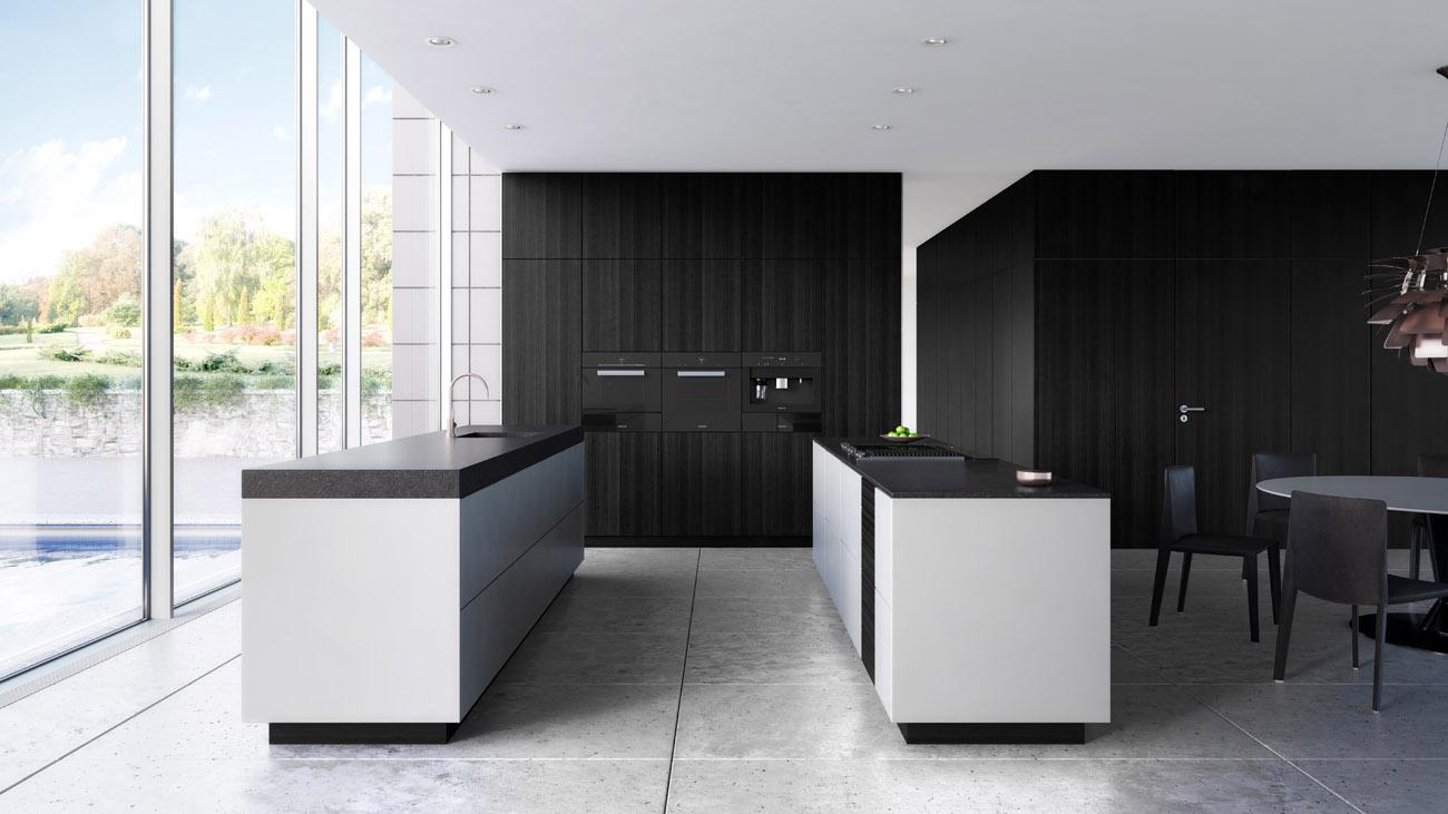 Cuisine noir et blanc meilleures images d 39 inspiration for Cuisine moderne noir