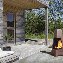 cheminée exterieure terrazza Jbarbecue feu exterieur Jotul Grenoble Chambery Albertville Atre et Loisirs