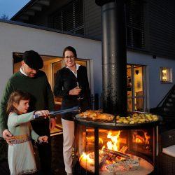 Barbecue cheminée extérieur surprise Ruegg Grenoble Chambéry Aix les Bains