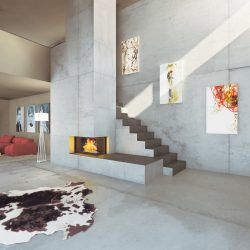 cheminée loft béton foyer insert ruegg atre et loisirs