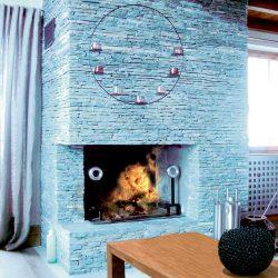 cheminée chalet en pierre sèche atre et loisirs