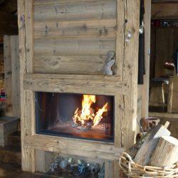 cheminée chalet en bois insert atre et loisirs
