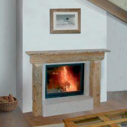 cheminée chalet cadre vieux bois atre et loisirs