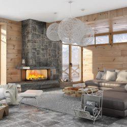 cheminée chalet foyer atra 800 vitre latérale atre et loisirs