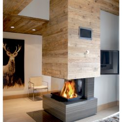cheminée chalet moderne foyer 3 vitres atre et loisirs