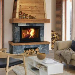 cheminee chalet pierre seche hotte bois foyer jotul atre loisirs