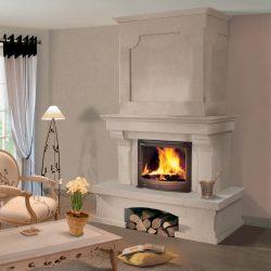 cheminee classique hotte pierre foyer jotul distingo atre loisirs