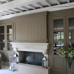 cheminee classique pierre blanche provence atre loisirs