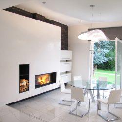 cheminée contemporaine blanche foyer 16 9 stuv atre et loisirs