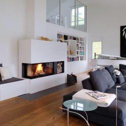 cheminee contemporaine noir et blanc foyer ruegg 720 atre et loisirs