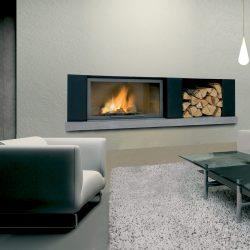 cheminée design niche a bois metal modèle nano atre et loisirs