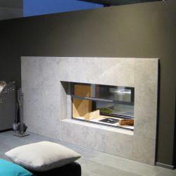 cheminée façade en pierre grise modèle vulcano atre et loisirs