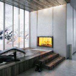 cheminée loft beton foyer insert atra atre et loisirs