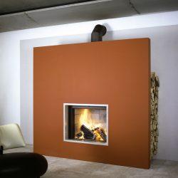 cheminée loft foyer stuv orange atre et loisirs