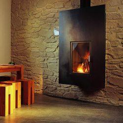 cheminée loft en tole noire atre et loisirs
