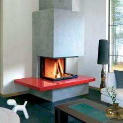 cheminée moderne foyer insert 3 vitres ruegg modele diablo atre et loisirs