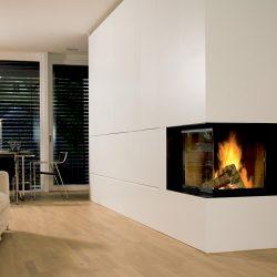 cheminée moderne blanche cadre noir foyer ruegg 720 atre et loisirs