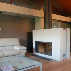 cheminée moderne double face foyer stuv atre et loisirs