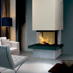 cheminée moderne foyer 3 vitres ruegg modele kaleo atre et loisirs