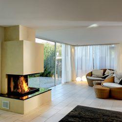 cheminée moderne insert 3 vitres ruegg atre et loisirs