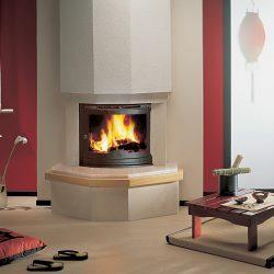 cheminée moderne marbre rose insert jotul atre et loisirs