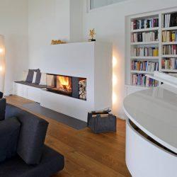 cheminée moderne métal noir foyer insert ruegg 720 atre et loisirs