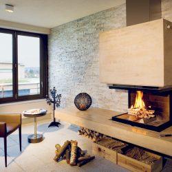 cheminée moderne murale suspendue foyer ruegg atre et loisirs