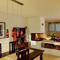 cheminée moderne séparation de pièce foyer insert ruegg en epi atre et loisirs