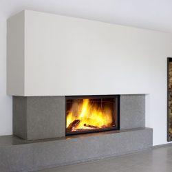 cheminée en pierre grise foyer stuv 21125 atre et loisirs