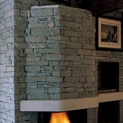 cheminée en pierre sèche foyer prismatique ruegg atre et loisirs