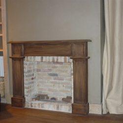cheminée style ancien rustique en bois et briques anciennes atre et loisirs