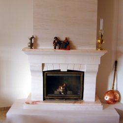 cheminée rustique hotte en pierre atre et loisirs
