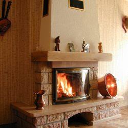 cheminée rustique en pierre de bourgogne atre et loisirs