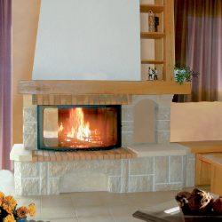 cheminée rustique en pierre de bourgogne beige atre et loisirs