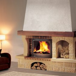 cheminée rustique en pierre de dordogne atre et loisirs