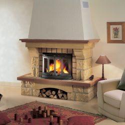 cheminée rustique en pierre de dordogne modèle sileo atre et loisirs