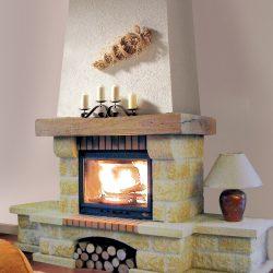 cheminée rustique en pierre du gard atre et loisirs