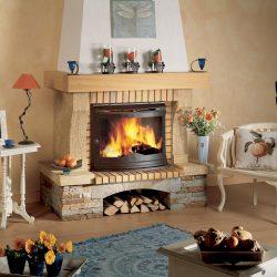 cheminée rustique en pierre sèche atre et loisirs