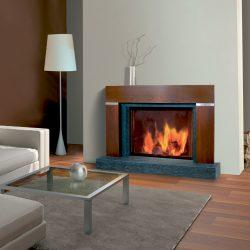 cheminee style bois modèle bistro atre loisirs