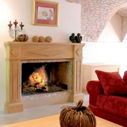 cheminee style bois briques atre loisirs