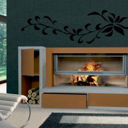 cheminée style loft metal rouillé modèle domino atre et loisirs