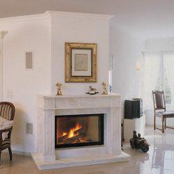 cheminee style louis philippe marbre beige atre loisirs
