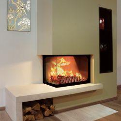 cheminée foyer atra 750 vitre latérale modèle stylo atre et loisirs
