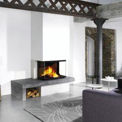 cheminée foyer atra atraflam 750 3 vitres atre et loisirs Isère grenoble Savoie Chambéry
