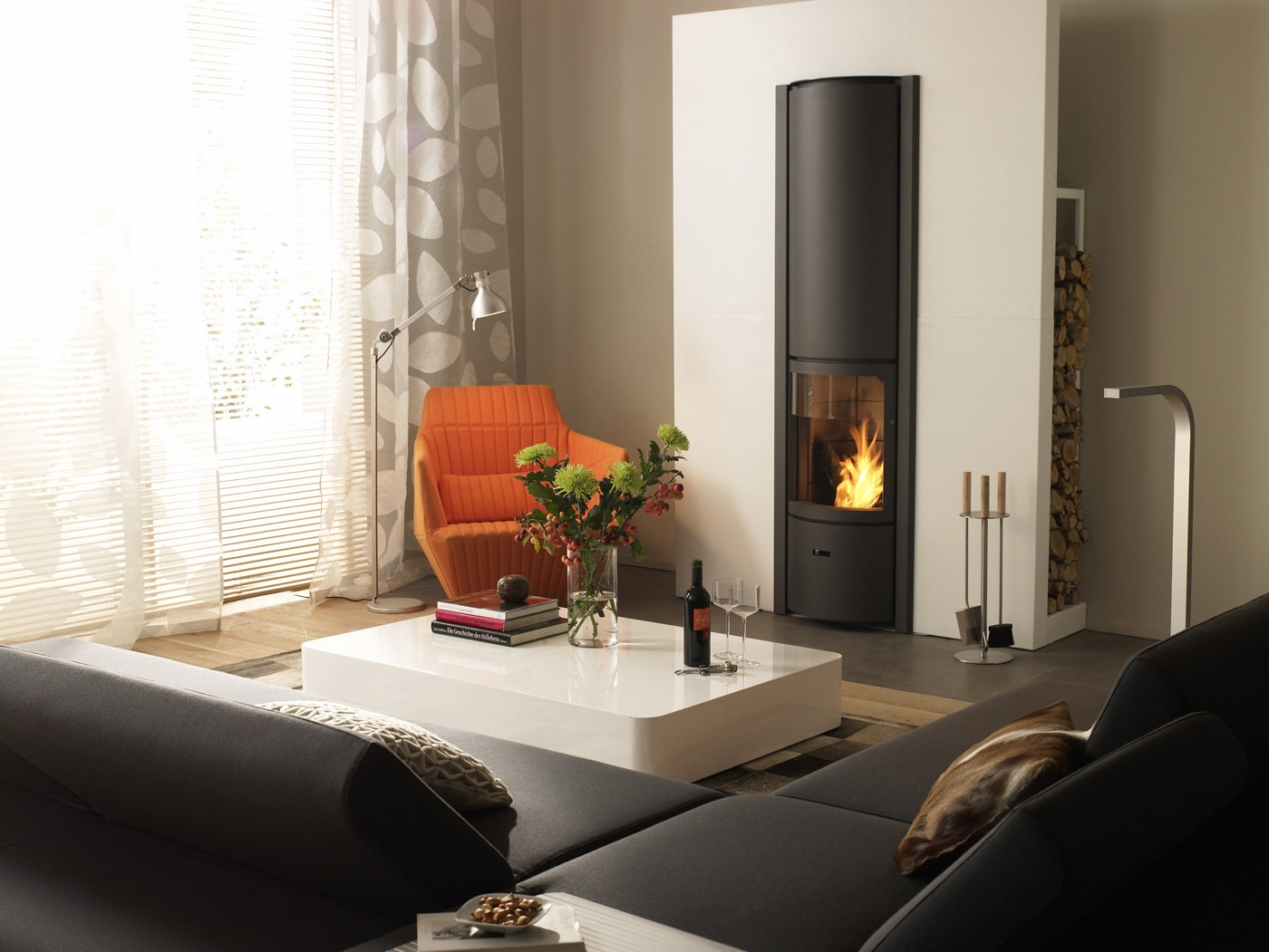 foyers st v le feu essentiel dans une chemin e ouverte et ferm e. Black Bedroom Furniture Sets. Home Design Ideas