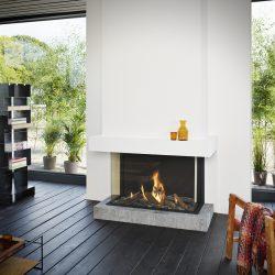 Cheminée foyer fermé à gaz Tulp Stuv Atre et Loisirs entretien et installation Savoie Isère Haute-Savoie