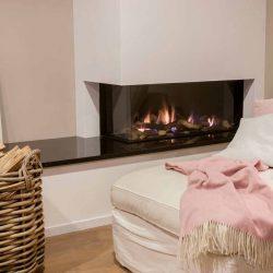 cheminée à gaz moderne Atre et Loisirs installateur Savoie Isère
