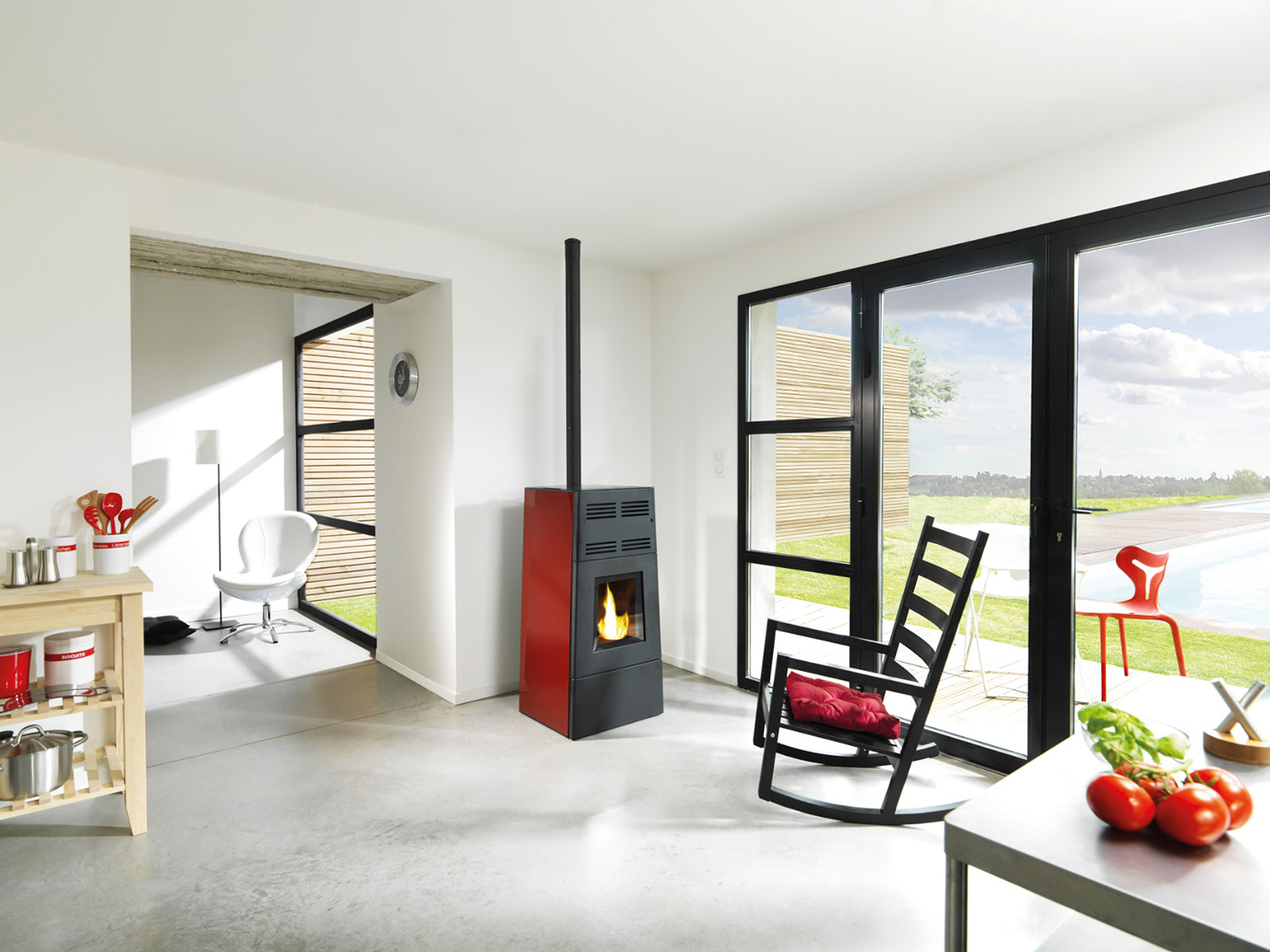 les po les granul s jotul sont chez atre et loisirs. Black Bedroom Furniture Sets. Home Design Ideas