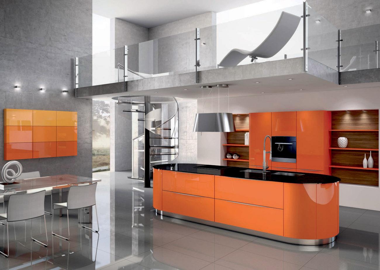 stunning meuble cuisine orange gallery design trends